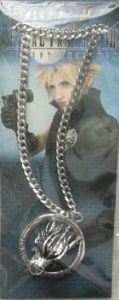 Final Fantasy Cloudy Strife Wolf Pendant Necklace Chain Cosplay